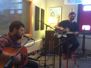 In Studio X: Elroy Meltzer performing during Local Spins on WYCE. (Photo/Local Spins)