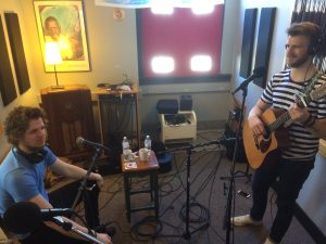 In Studio X: Andy and Dave Zagar performed during Local Spins on WYCE.